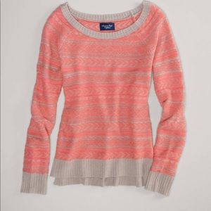 New with tags! A&E fair isle Pink Sweater sz. XL